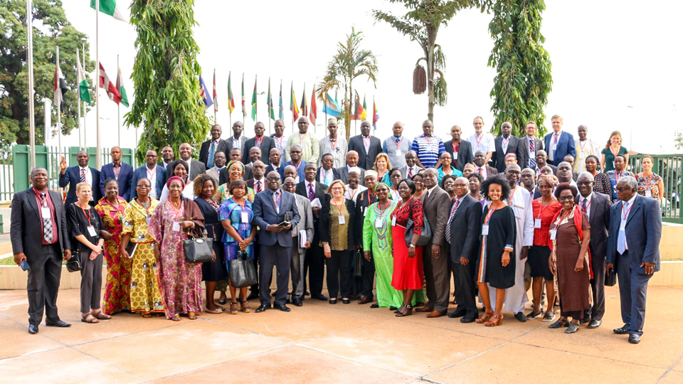Group photo taken during the opening ceremony of the Global Book Alliance (GBA) in Abidjan, Côte d'Ivoire | Copyright: ADEA